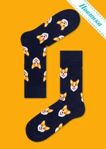 Носки Корги   Купить мужские и женские цветные носки   Funny Socks