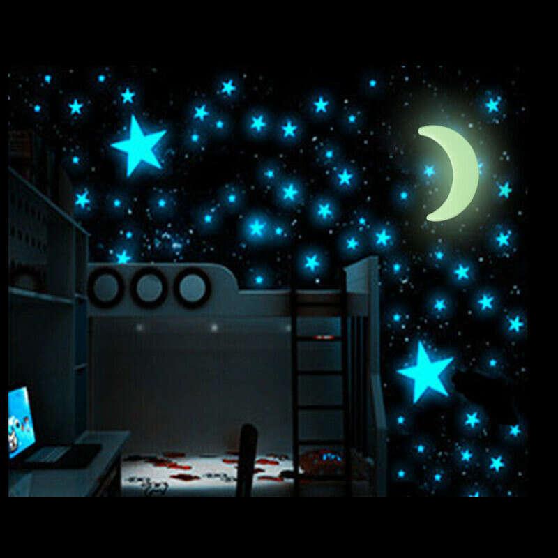 Glow In The Dark Stars Moon Sticker