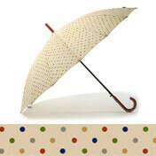 Зонт-трость Pattern - Dots on Beige