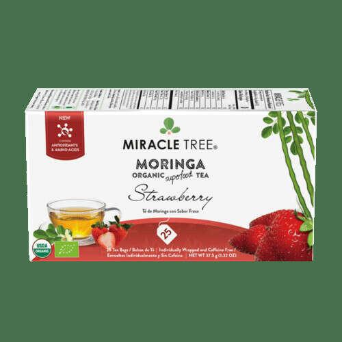 Miracle Tree Organic Moringa Tea Strawberry