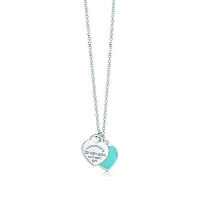 Return to Tiffany™double heart tag pendant