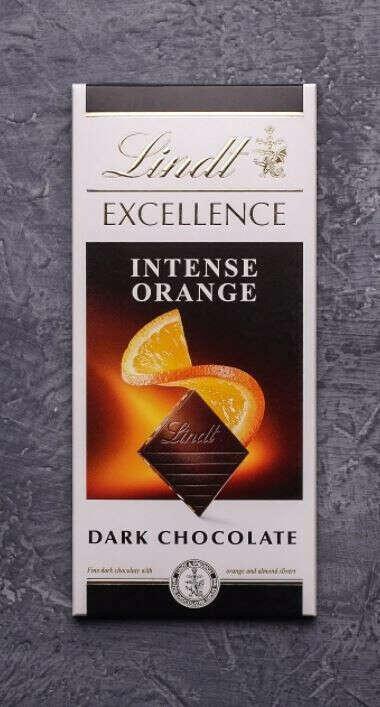 Темный шоколад Lindt с апельсином
