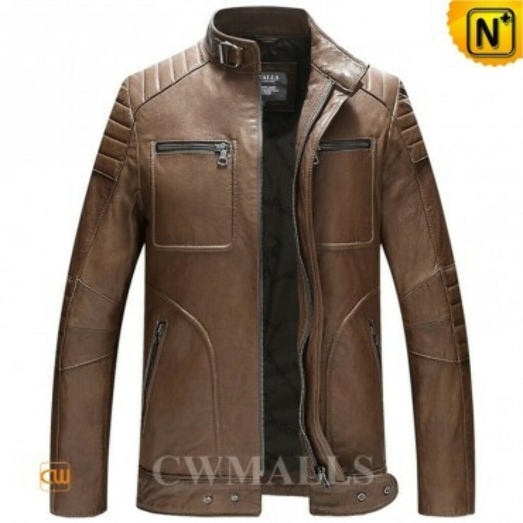 CWMALLS® Designer Biker Leather Jacket CW806030