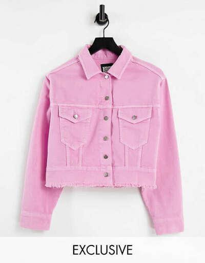 Розовая укороченная джинсовая куртка Reclaimed Vintage