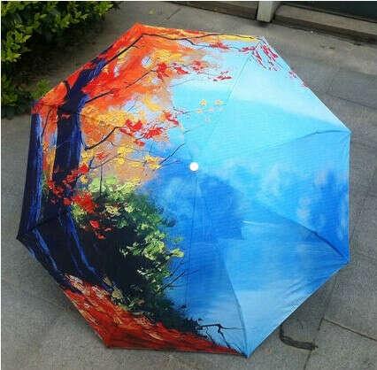 Красивый складной зонт