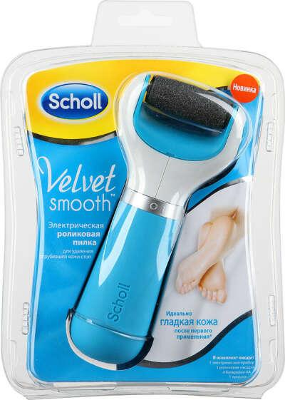 Пилка Scholl Velvet smooth роликовая электрическая для удаления огрубевшей кожи стоп