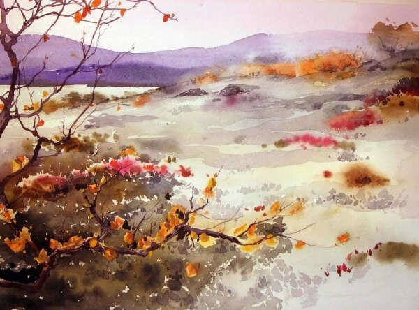 Картина акварель Анны Михайловой
