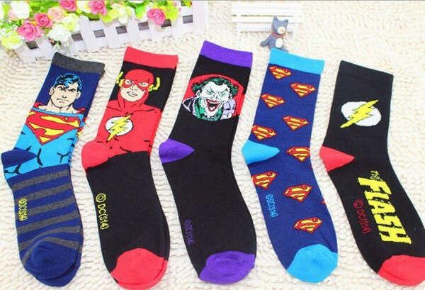 носки с супергероями