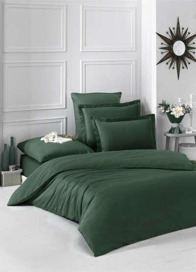 Постельное белье Karna - Евро, Зеленый