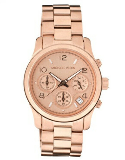 Michael Kors Rose Gold Plated Chronograph Watch