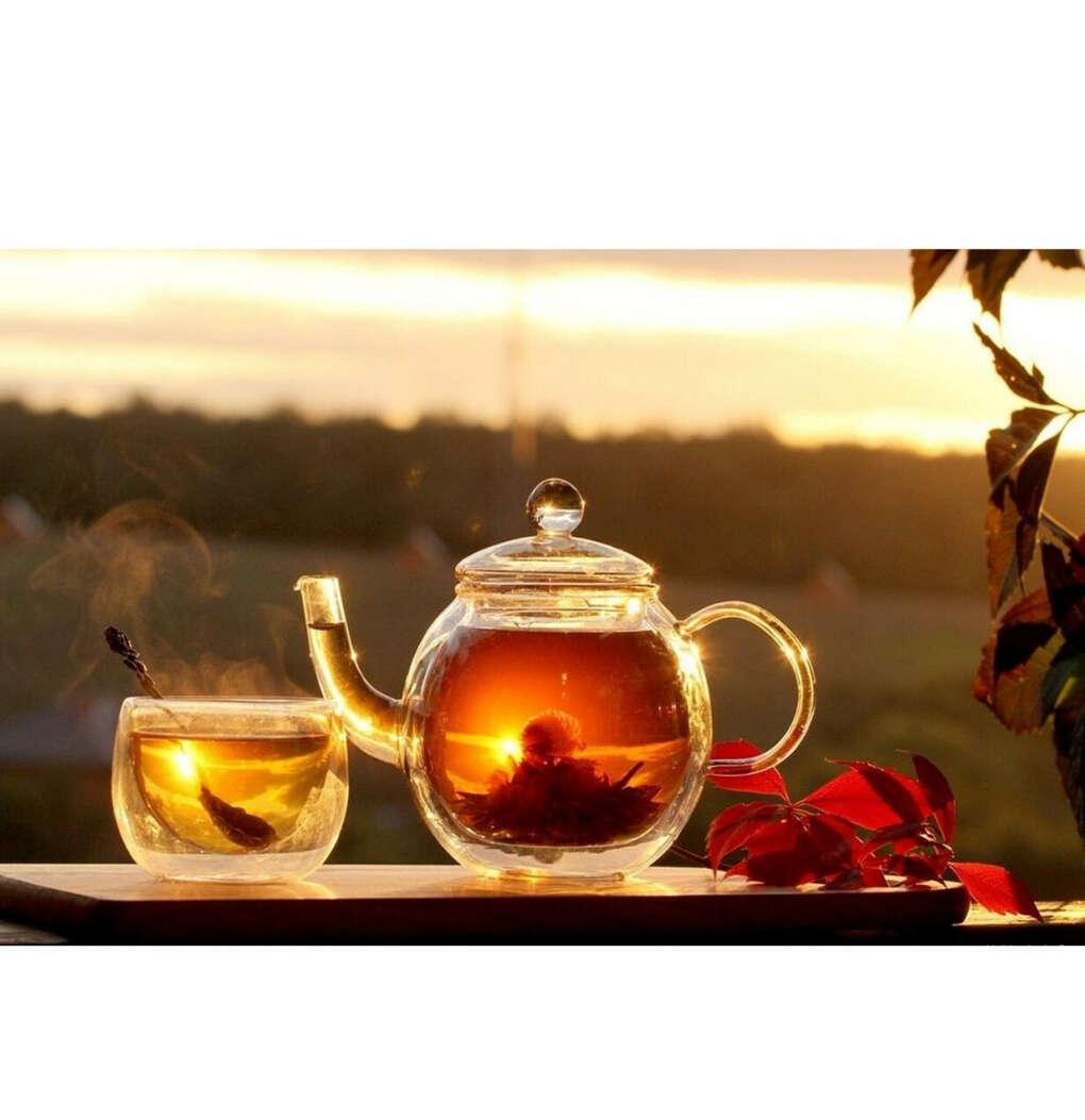 Стеклянный чайник для заваривания чая