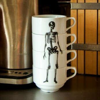 Набор чашек со скелетом Bone Cups