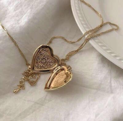 Винтажный открывающийся медальон