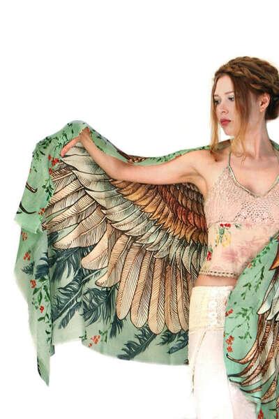 Платок-крылья Vintage Green от Shovava