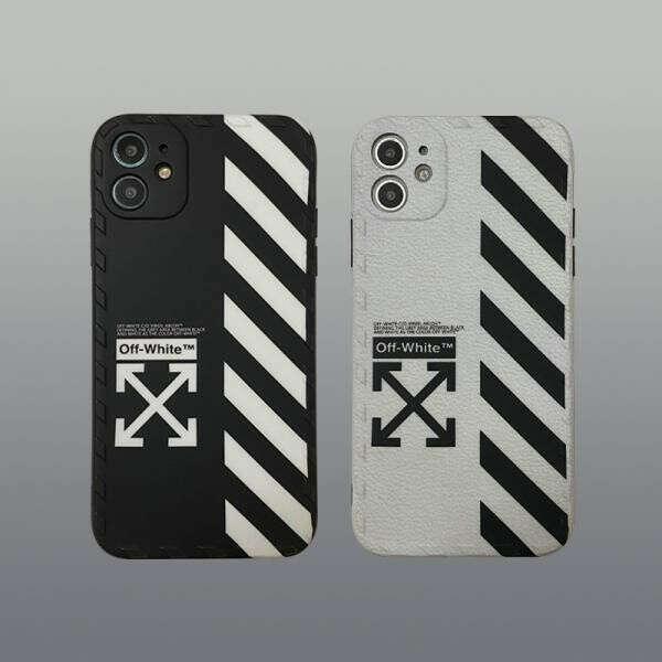 オフホワイト iPhone12/12 Maxケース ペア OFF-WHITE iPhone12 Pro/12 Pro Maxケース カップル向け