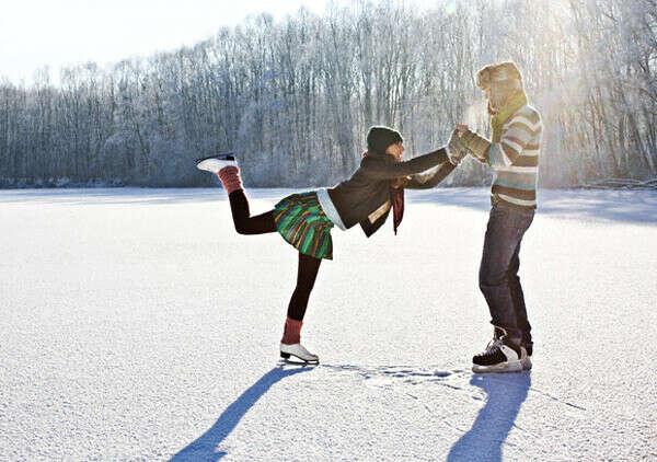 покататься на коньках