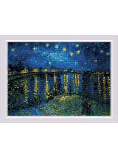 """Набор для вышивания """"Звездная ночь над Роной"""" по мотивам картины В. Ван Гога"""", РИОЛИС"""