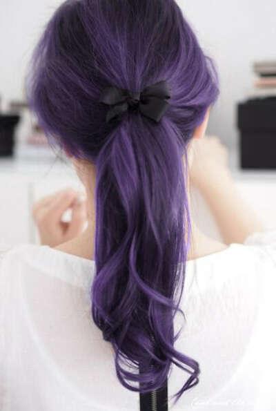 Фиолетовость волос