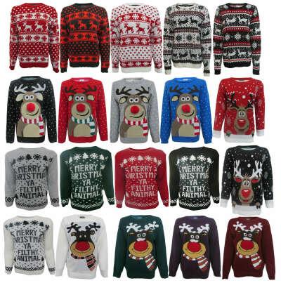 много свитеров с новогодним принтом