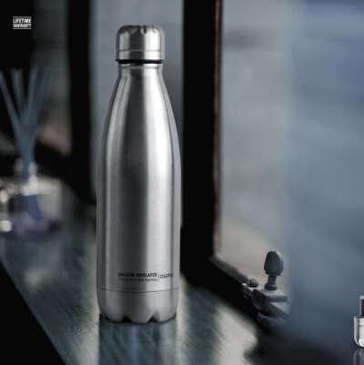Бутылка-термос Asobu Central Park 510 мл Серебристая
