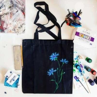 Эка-сумка, handmade. Валошка