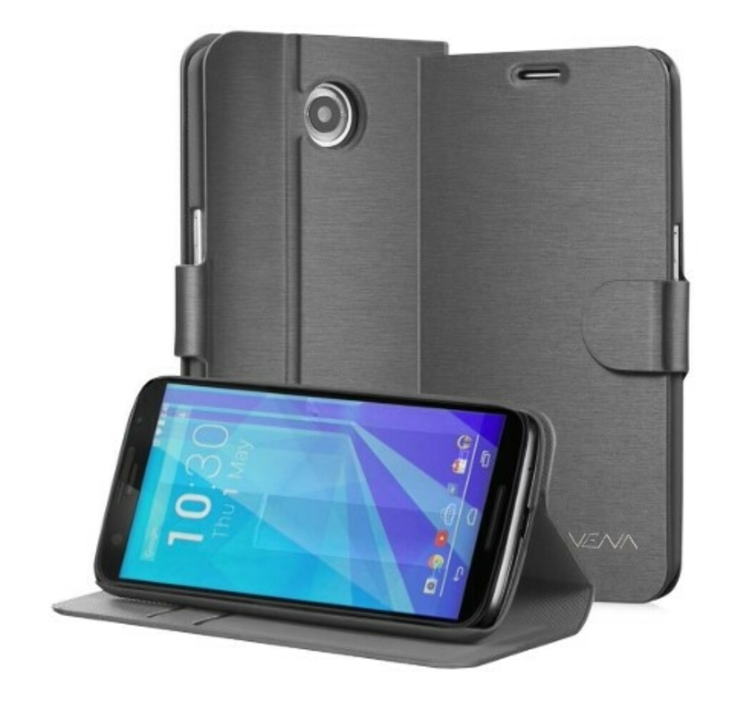 vSuit Draw Bench PU Leather Wallet Flip Stand Case with Card Pockets for Google Nexus 6