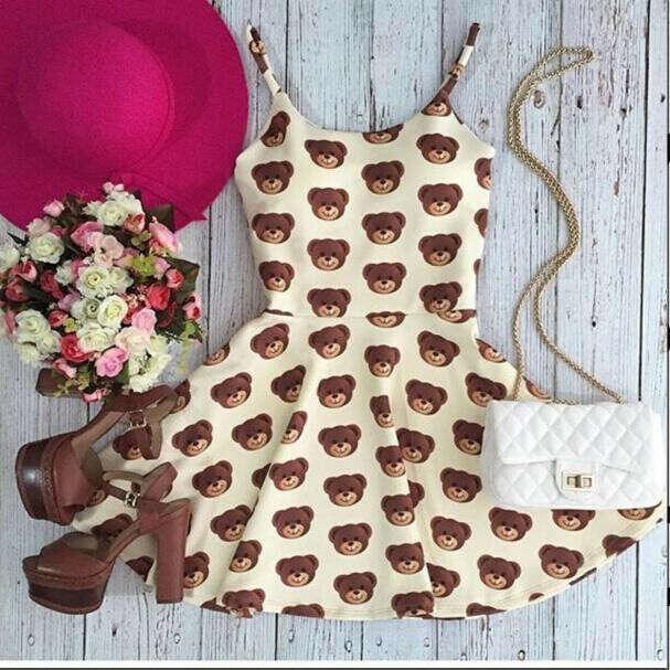 Милое платье с мишками