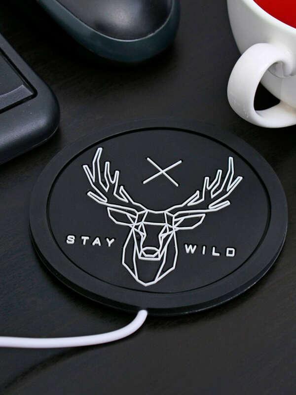 """Подставка для кружки USB """"Stay wild"""" с подогревом, Сималенд"""