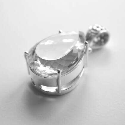 Кулон 'Crystal 2' с горным хрусталем серебряный