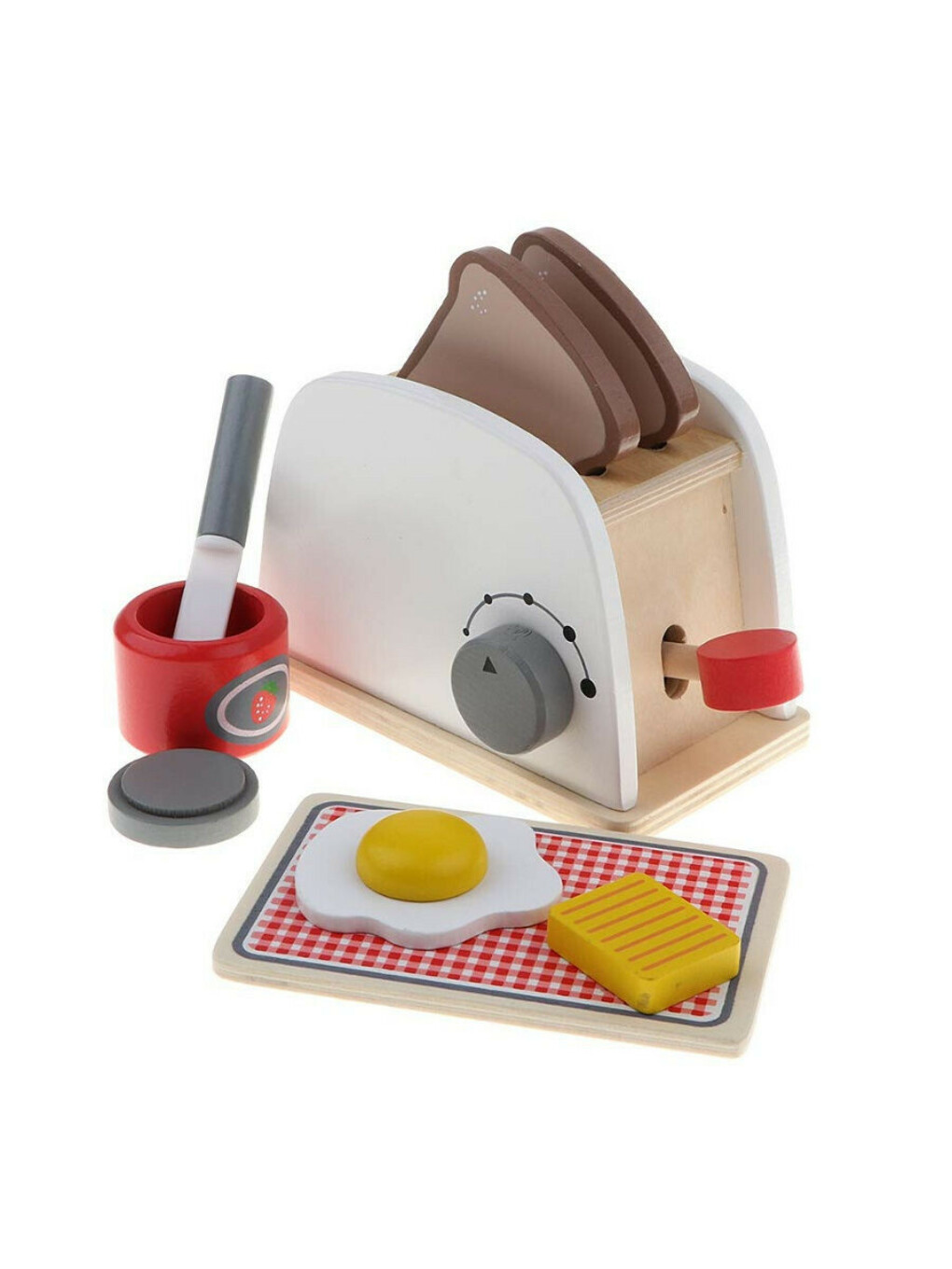 Игрушка деревянная детская кухня Тостер, Bubbletop