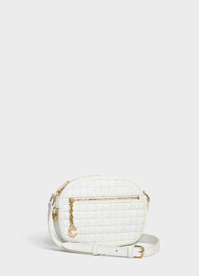 CELINE SMALL C CHARM BAG IN QUILTED CALFSKIN COLOR