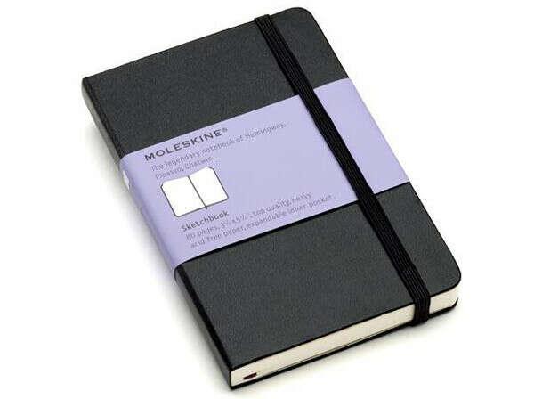 Записная книжка Moleskine Sketchbook (для рисунков), Large (13х21см), черная
