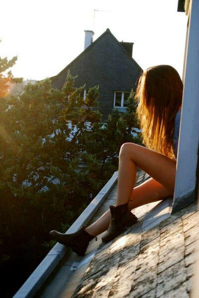 побывать на крыше дома