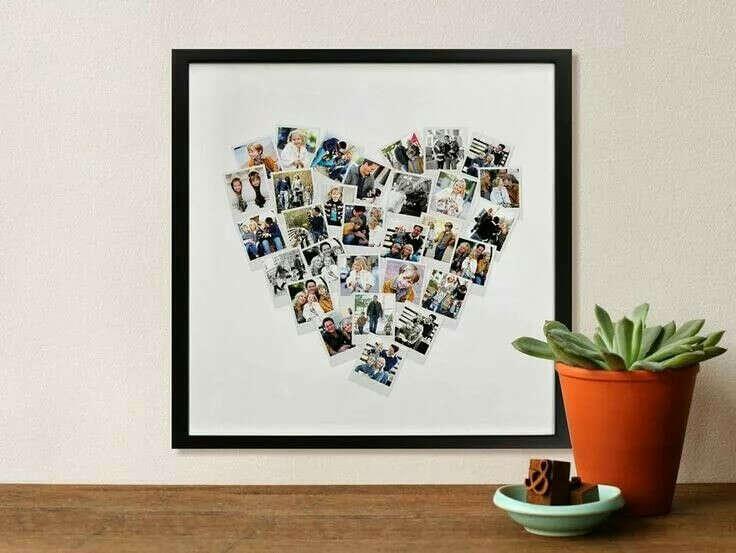 Сделать романтичный коллаж с фото, билетами и наклейками