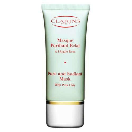 Очищающая маска на основе розовой глины,придающая сияние коже