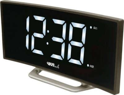 Электронные часы с крупным светящимся циферблатом