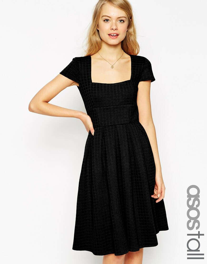 ASOS TALL Debutante Full Midi Dress In Texture at asos.com