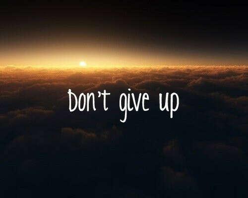 я хочу никогда не сдаваться!!