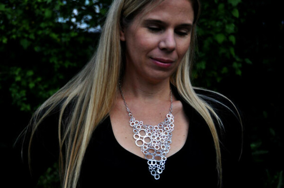 Ожерелье из неровных колечек