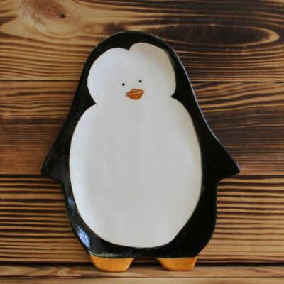 "Тарелка ""Приветливый пингвин"""