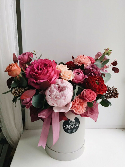 Цветы в коробке!