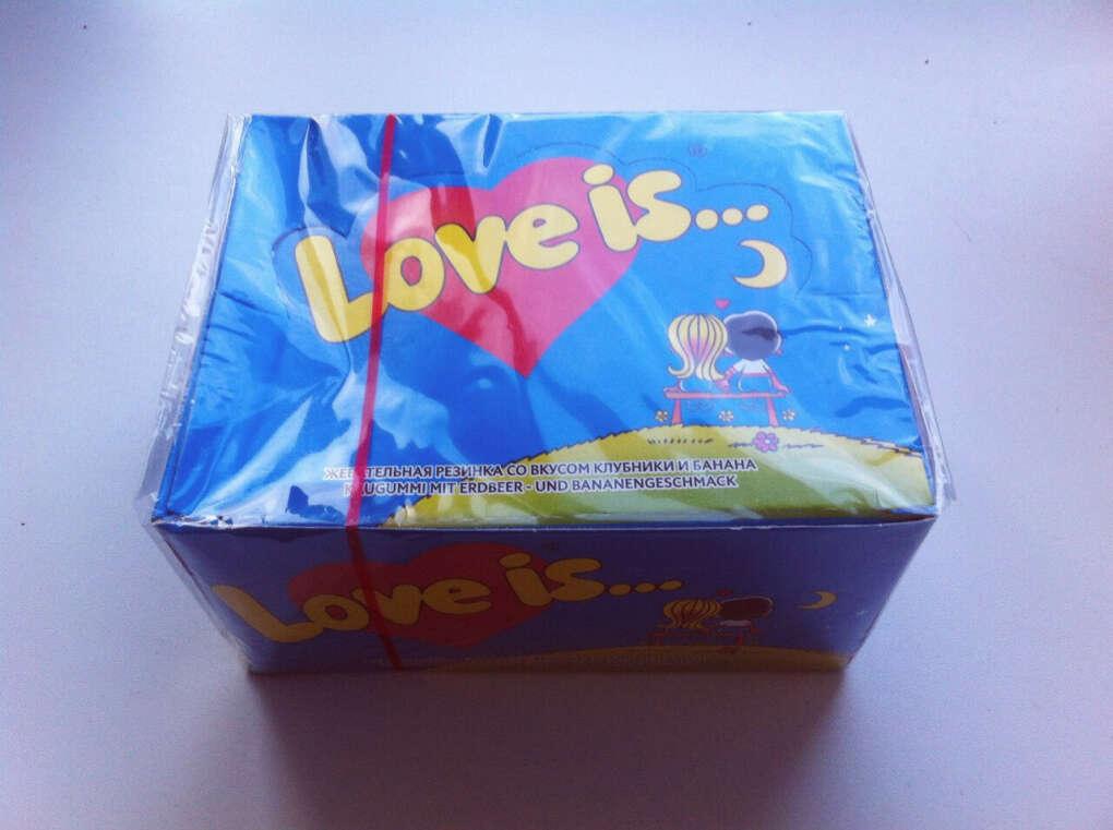"Хочу блок жвачек ""Love is"""
