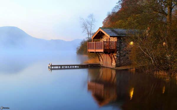 Пожить в доме у озера