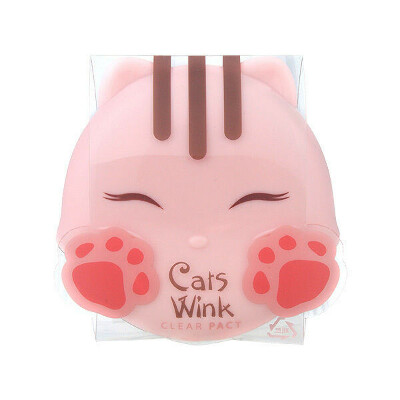 TONYMOLY Cats Wink Clear Pact 11g - #1 Clear Skin (LIGHT BEIGE) / Made in Korea
