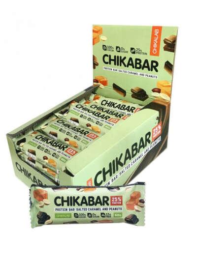 Глазированный батончик CHIKABAR, 20 шт х 60 гр (арахис), CHIKALAB