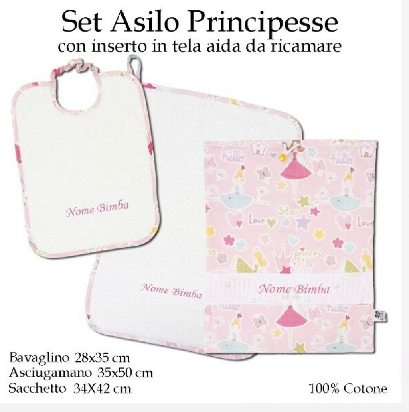 Set Asilo Nido Principesse – 3 pezzi