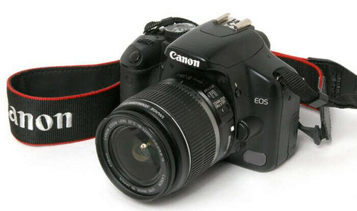Цифровой зеркальные фотоаппарат с объективом
