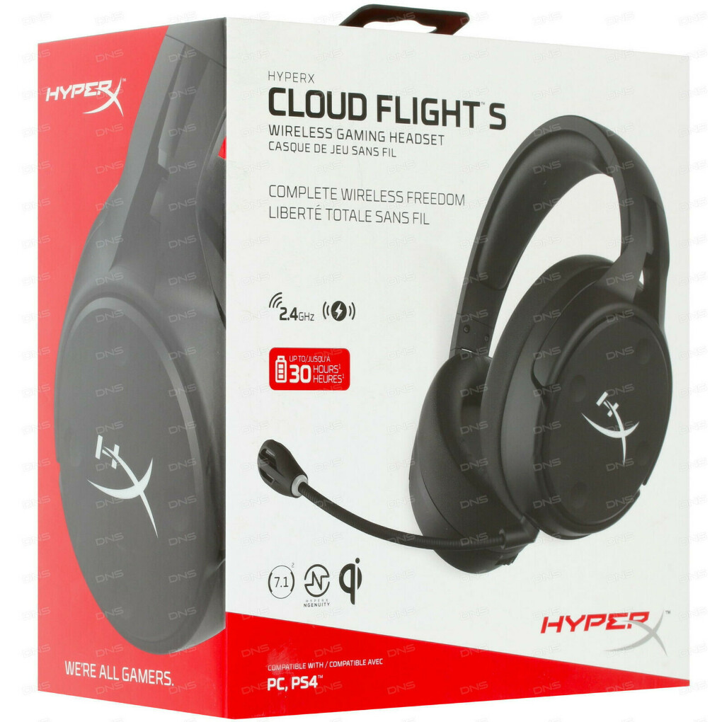 HyperX Cloud Flight S HX-HSCFS-SG черный