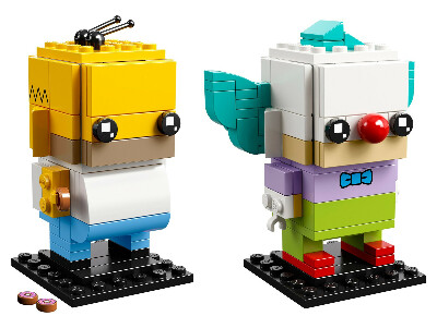 Lego BrickHeadz 41632 Гомер Симпсон и клоун Красти