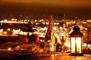 Романтичный ужин на крыше